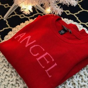 Victoria's Secret Angel Knit Red Pink Sweater M